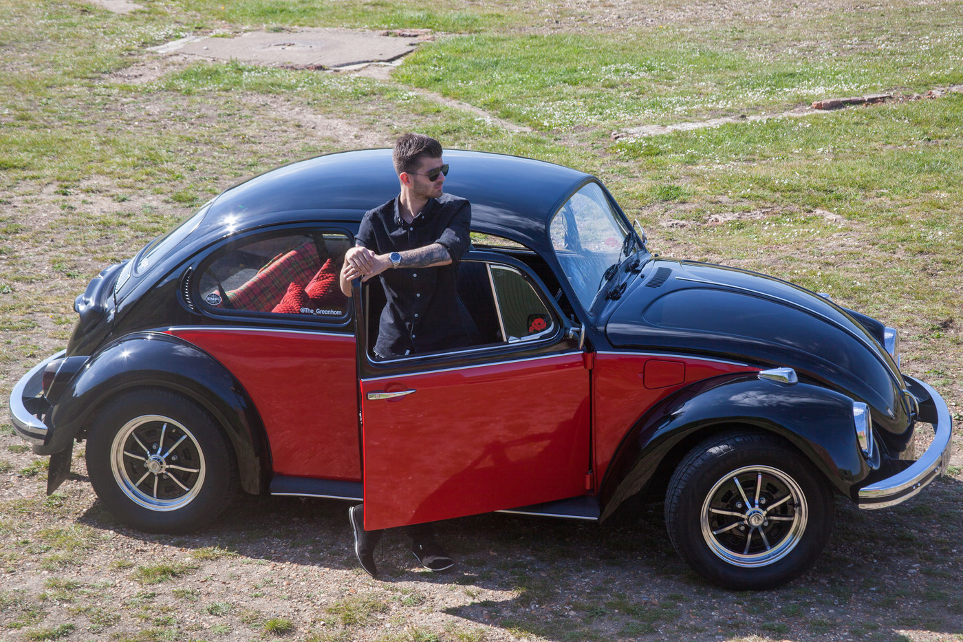 Lewis Rogers and his 1973 VW Beetle