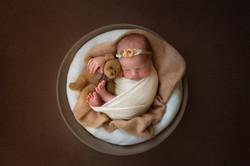 fine art newborn photography session man
