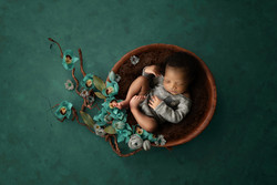 in client's home newborn photo session