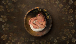 in client's home newborn photo session in manchester