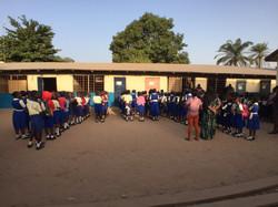 Morning Assembly Serekunda Campus