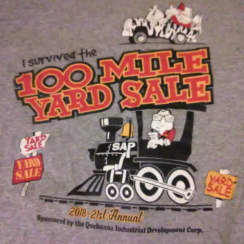 2018 100 Mile Yard Sale Adult t-shirts