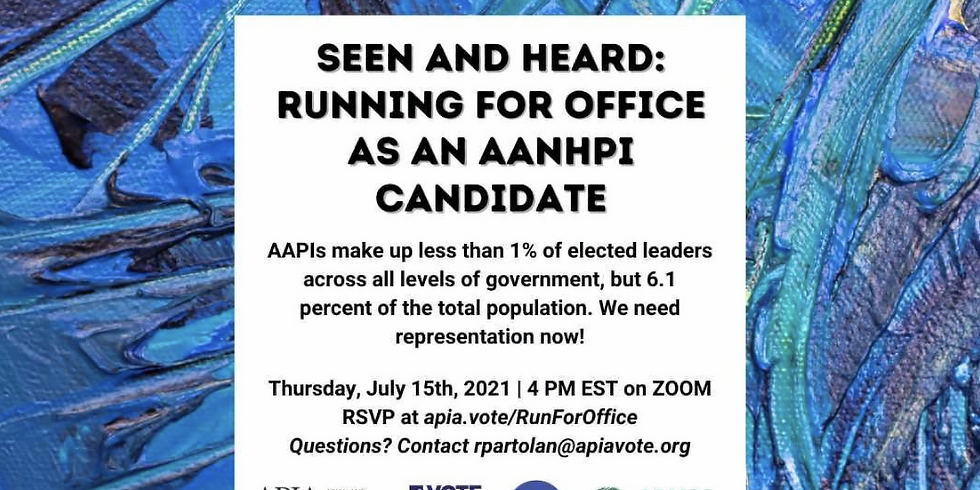Seen and Heard: Running for Office as an AANHPI Candidate