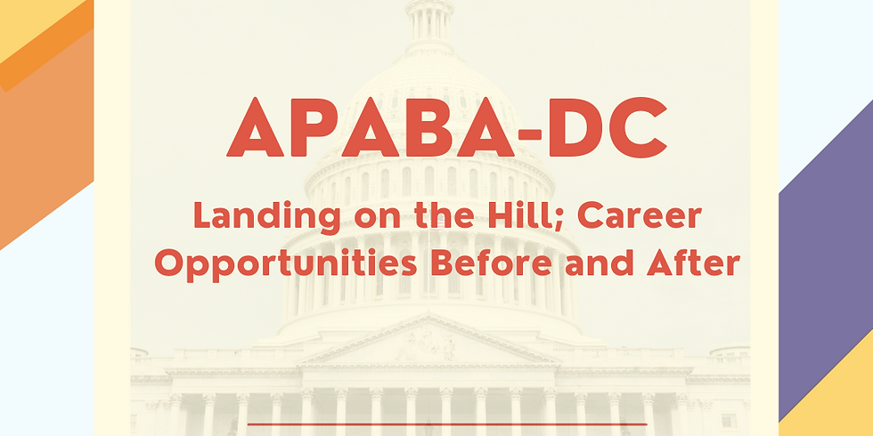 Landing on the Hill; Career Opportunities Before and After