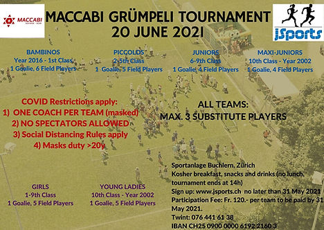 Football Gruempeli Tournament 2021 Flyer