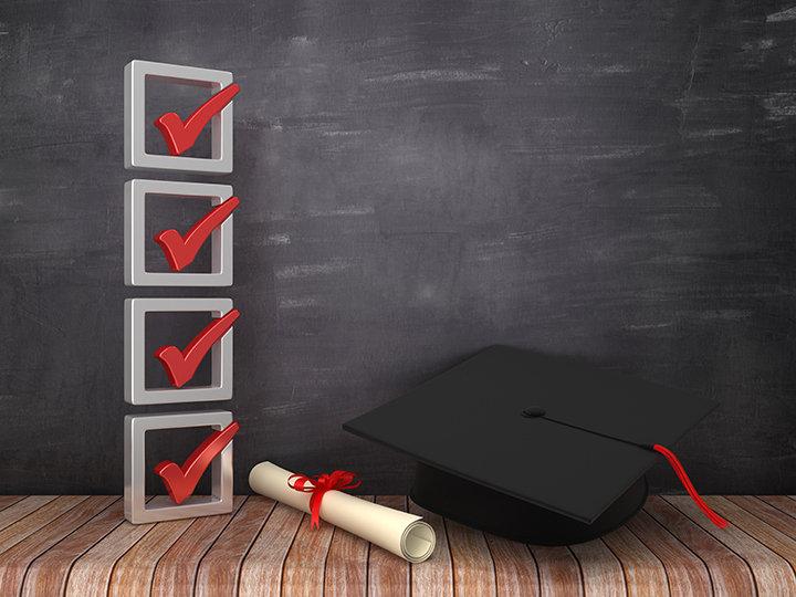 Illustration of checkmarks on a chalkboa