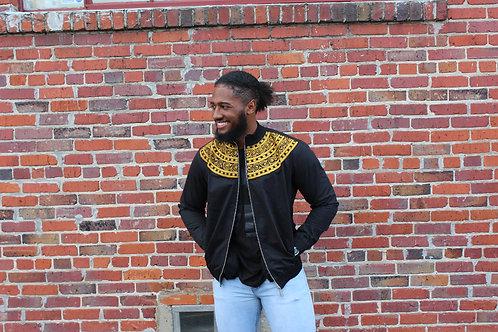Black & Gold Embroidered Jacket