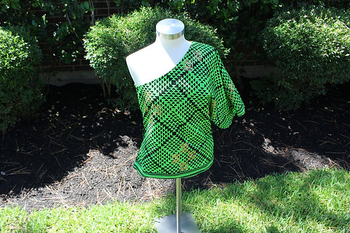 Green Woodin One Sleeve Blouse