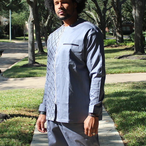 Men's Grey Checkered Garment