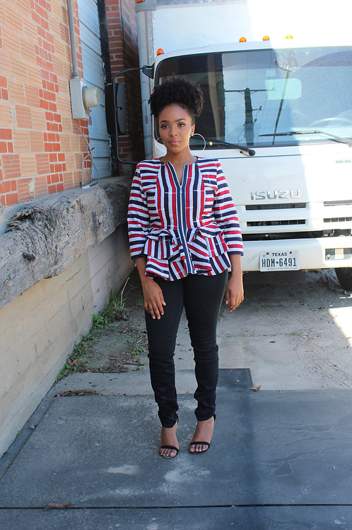 Northern Kente Peplum Jacket