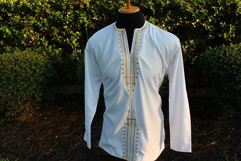 Embroidered Men's Top