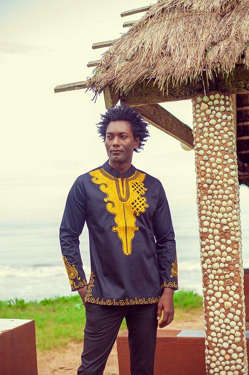 Men's Black & Gold Arrow Point Joromi