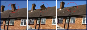 Chimney collapse and damage