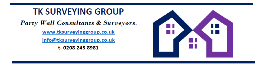 TK Surveying Group Logo and Contact details