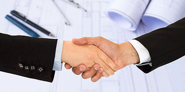 hand shake and business plans