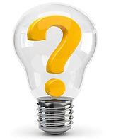 question mark in light bulb