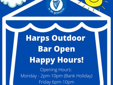 Harps Happy Hours! Bar Open!