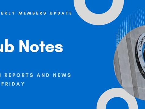 Club Notes 22.10.2021