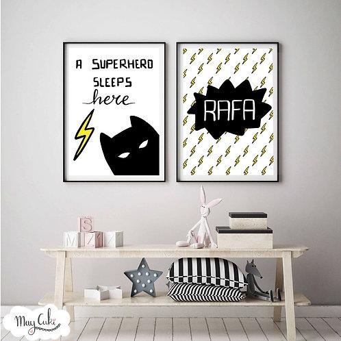 Láminas personalizadas superhéroe