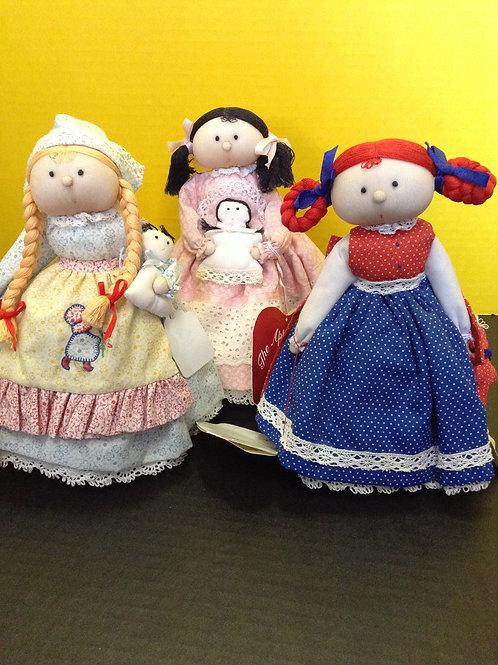 Cloth Apple Cheek Dolls