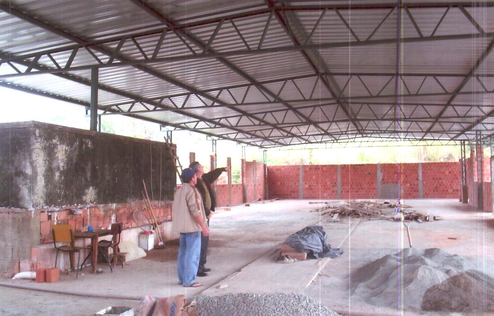 Construção salão São João Paulo II