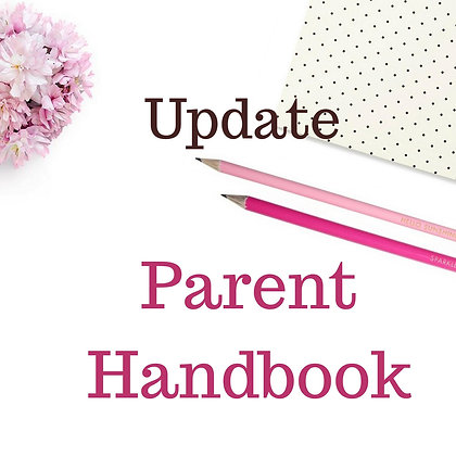 Parent Handbook Update