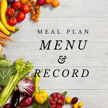Editable Meal Plan Menu and Record