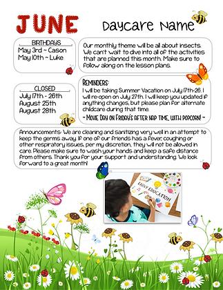 Spring Theme Custom Newsletter #5