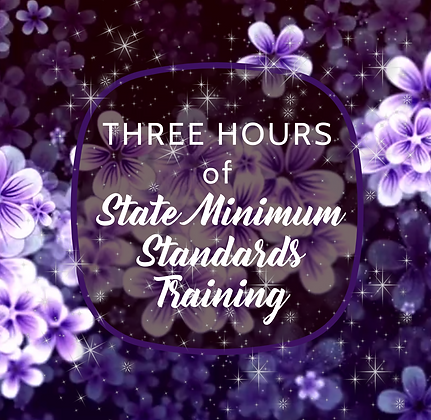 3 Hours of State Minimum Standards training