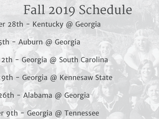 Fall Schedule Announced