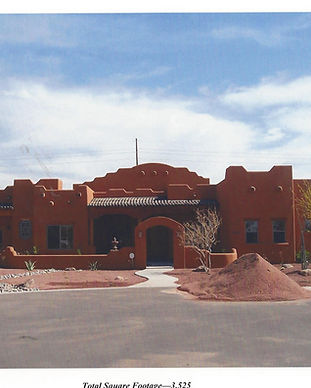 mission red adobe style luxury custom home