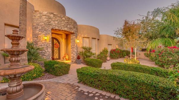 Ahwatukee Tuscan Style Custom Home - Courtyard
