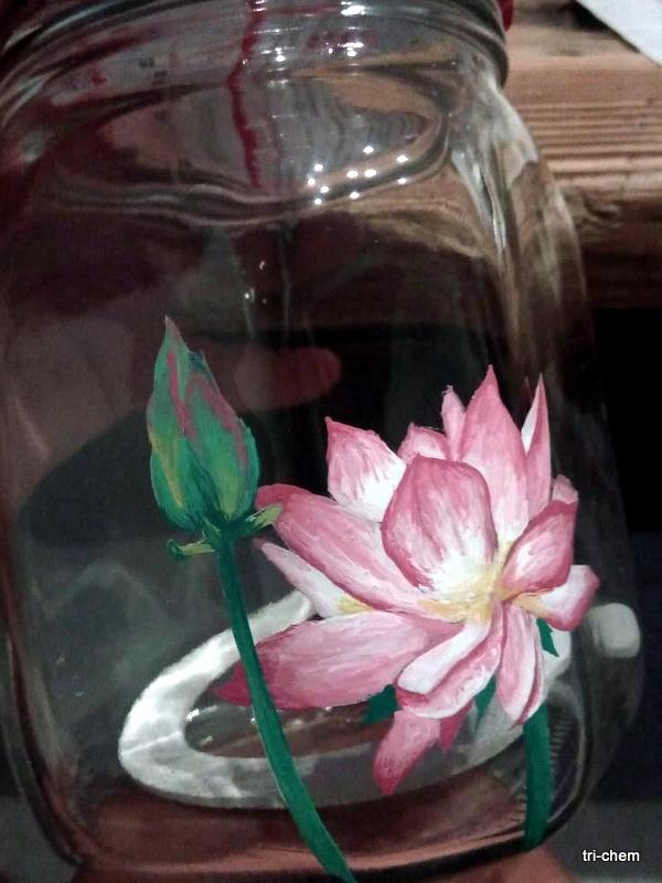 Softly Flo auf Glas