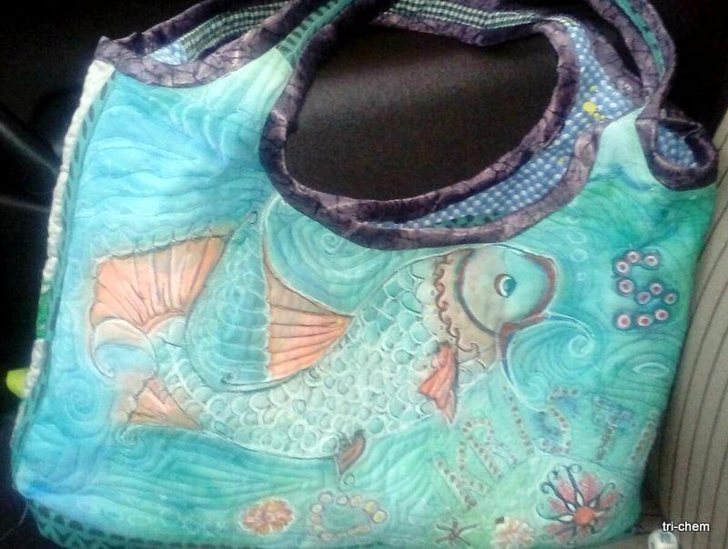 Quilt Tasche - Stoff selbst gestaltet mit Softly Flo