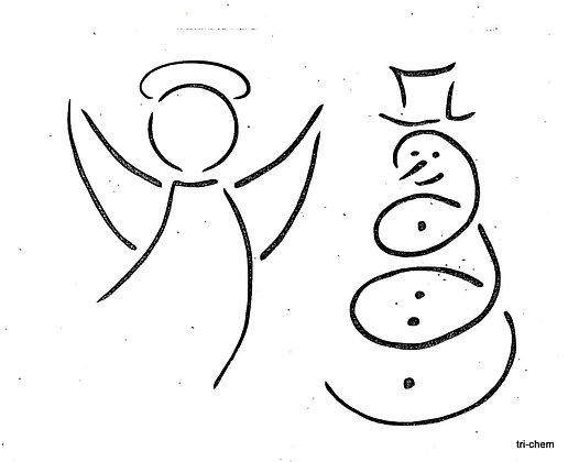 Schneemann, Engel