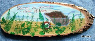 Holz bemalt mit Softly Flo