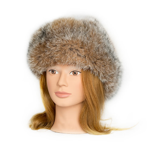 Lynx Fur Hat - Leather Top