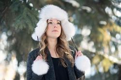 Blue Fox Fur Hat 3