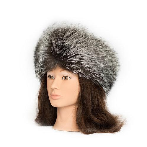 Silver Fox Fur Headband