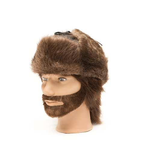 Beaver Fur Hat - Leather top