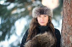 Silver Fox Fur Headband Coyote Fur Mitts