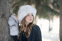 Blue Fox Fur Hat 6