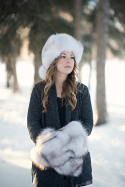Blue Fox Fur Hat 8