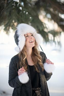 Blue Fox Fur Hat 4