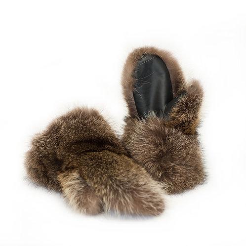 Raccoon Fur Mitts - Ladies