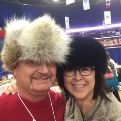 Coyote Fur Hat & Black Fox Fur Headband
