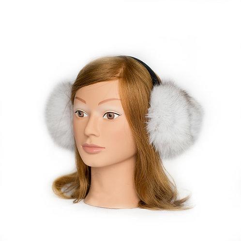 Blue Fox Fur Earmuffs