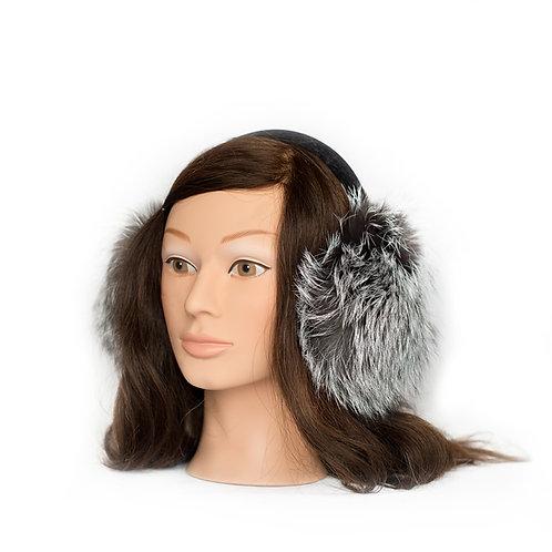 Silver Fox Fur Earmuffs