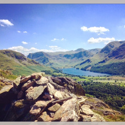 Looking back from Rannerdale Knotts towards Buttermere on the warmest day of 2016.