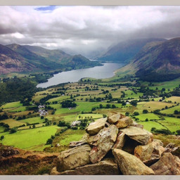Crummock Water from Low Fell. Low Fell is an easy walk and the views are beautiful. The Lawton valley is like Arcadia.